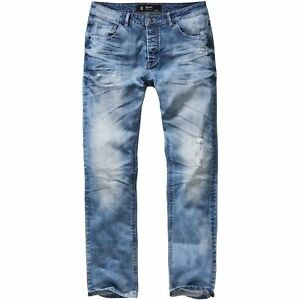 Brandit Will Denim blue Jeans Herren Hose straight fit stone washed used look