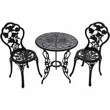 Oakland Outdoor Chairs & Table 3pcs Bistro Set Cast Iron Patio Furniture NEW