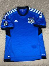 San Jose Earthquakes 2012 MLS Soccer Futbol Adidas Jersey Mens Sz L