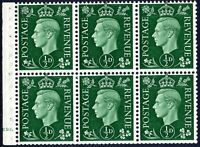 1937 Sg 462 ½d Green QB1 Booklet Pain Cyl E10 (dot) Perf B4A(I) Unmounted Mint