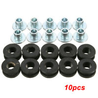 10PCS Motorcycle Rubber Grommets Bolt For Honda Yamaha Suzuki Kawasaki Fairing