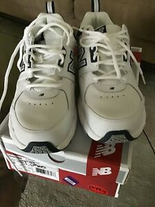 Men's Extra Wide Size 10 New Balance 857 Tennis Shoes 4E Training New White Gray