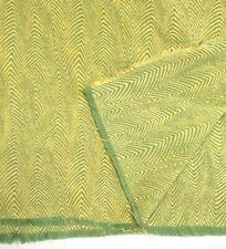 Gorgeous Luxury Chenille Chevron Herringbone Fabric Remnant ScrapYellow Green