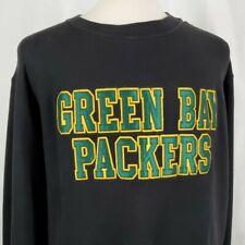 Green Bay Packers Champion NFL Pro Line Sweatshirt XL Black Cotton Blend Sewn