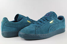 Puma Suede Classic Mono Iced Blue Coral Teal Gold Size 11