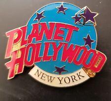 Planet Hollywood Pin / Badge New York Classic Light Blue Globe Logo