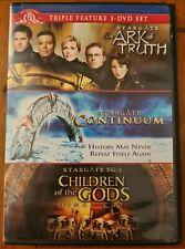 RARE Triple DVD Set - Stargate SG-1 Ark Truth + Continuum + Children of the gods