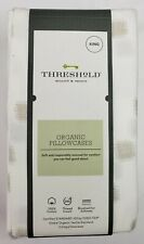 Threshold Organic Cotton 2 Printed Pillowcases 300 Thread Count King Size
