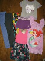 Lot girls 4-5 tops shirts shorts leggings dress nightgown AG TCP Gap Disney
