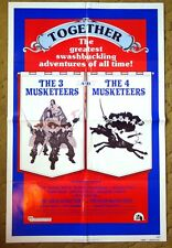 """""""THE 3 MUSKETEERS & THE 4 MUSKETEERS"""" The only thing better than 3 is 4 - poster"""