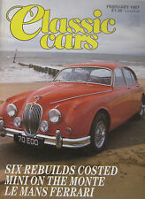Classic Cars 02/1987 featuring Ferrari 250GTO, 250MM, Alvis, Jaguar, Bentley