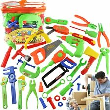 Pretend Play 1set Childrens Toolbox Toy Set Simulation Repair Tool Drill Screwdriver Repair Kit House Play Toys Tool Set For 3-14 Years Old
