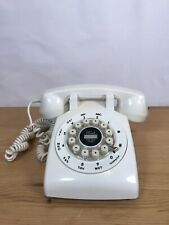 706L Telephone - Retro Vintage Style Desk Phone - Working Rotary Dial Red Heavy
