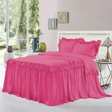 "1 Piece 800tc EgyptianCotton New Dust Ruffle Bed Spread 30"" drop all size &color"
