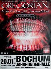 GREGORIAN - 2017 - Konzertplakat - Masters of Chant - Tourposter - Bochum