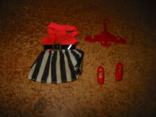 Dawn doll, 3 Piece Outfit Only #614 Striped Swinger