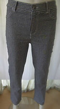 WOMBAT Womens Black & White checked pants size 8  - BNWOT