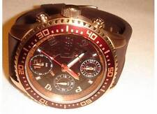 NEW 32 DEGREES MENS CHRONOGRAPH ROSE GOLD TONE STEEL RUBBER STRAP WATCH $999 RRP