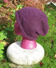PRINTED INSTRUCTIONS - CHUNKY ROLL BRIM SLOUCH BEANIE  HAT KNITTING PATTERN