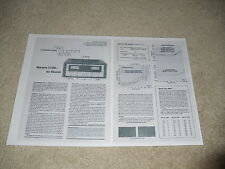 Marantz 510m Super Amplifier Review, 1976, 2 pgs, RARE!
