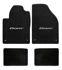 New! black floor mats 2013-2015 Dodge Dart Embroidered Logo Silver Set of 4