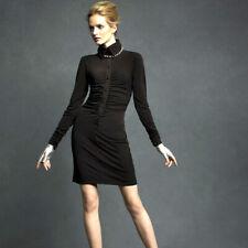 Karl Lagerfeld Black Zombie Dress High Collar sz S