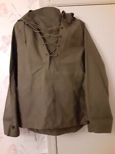 WW2 USN Named Foul Wet Weather Deck Hooded Rain Pullover Jacket WWII Small