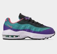 GIRLS: Nike Air Max '95 Now, Green/Hyper Pink - Size 3Y BQ7219-300