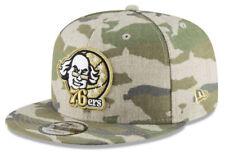 1fde3bac120 Size  7 1 8. Philadelphia 76ers Throwback Logo Camo Snapback Adjustable Hat  Cap New Era NWT