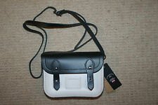 New Cambridge Satchel Company Spectator Black/White Leather Tiny Crossbody Bag
