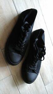 Leinenschuhe Sneaker Leinenturnschuhe Schuhe Gr.43 neu schwarz Herren Damen Luck