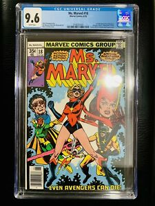 MS. MARVEL #18 CGC 9.6 1ST MYSTIQUE ❄️ WHITE PAGES! ORIGINAL OWNER! 9.8? SCARCE!