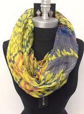 Women/Girls Chiffon Infinity Scarf Circle Loop Wrap Shawl Soft Yellow/Lavender