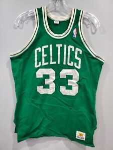 Rare VTG 80s Sand Knit Authentic Boston Celtics Larry Bird 33 Jersey Men 44 Sewn