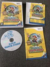 Super Paper Mario Nintendo Wii Game Pal Rare