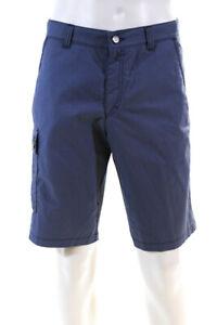 Bogner Mens Cotton High Rise Groesse Bermuda Shorts Blue Size 36