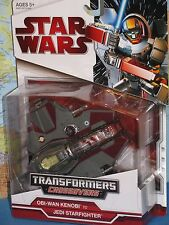 STAR WARS TRANSFORMERS CROSSOVERS OBI WAN KENOBI JEDI STARFIGHTER **BRAND NEW**