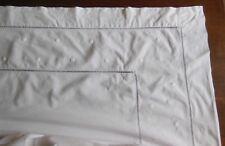 Ancien drap coton brodé 2 personnes - linge ancien
