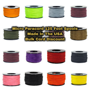 Paracord Planet 125 Foot Spools Micro Cord - Made In The USA