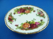 ORIGINAL VINTAGE BUTTER  DISH / COASTER  OLD COUNTRY ROSES ROYAL ALBERT ENGLAND