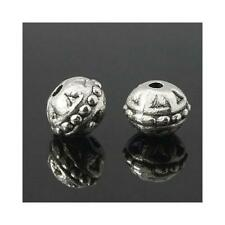 Tibetan Round Spacer Beads 8mm Antique Silver 20 Pcs Art Hobby Jewellery Making
