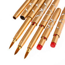 5Pieces Portable Makeup Lipstick Retractable Lip Brush Eyeliner Cosmetic Brushes