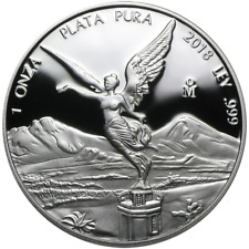 2018 Proof Silver Mexican Libertad Onza 1 oz in Cap