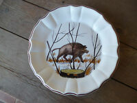 Este Ceramiche Italy Wildlife Hand Painted  Artist Signed Dinner Plate #J
