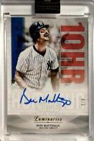 MLB Card 2019 Don Mattingly TOPPS Luminaries Home Run Kings Auto Relic 4/5