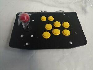 Controller Jostick stick Arcade Usb Nero/giallo 8 pulsanti