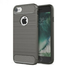 iPhone 7 iPhone 8 TPU Hoesje Cover Case Grijs Carbon