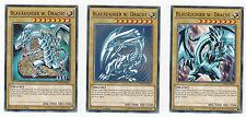 Yu-Gi-Oh! Blauäugiger Weißer Drache W. Common LDK2 Artworks SDK,LOB,PCK 3er Set