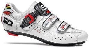 Profi Fahrradschuhe Rennrad Sidi Genius 5 Pro Weiss Rennradschuhe Radsportschuhe