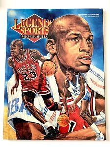 Michael Jordan 1992 LEGENDS SPORTS MEMORABILIA Magazine w/ Uncut Cards, NMMT